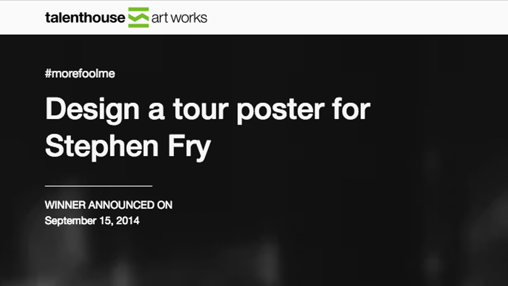 Talenthouse - Stephen Fry Tour Poster